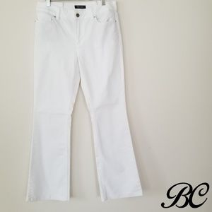 White House Black Market Flared Skinny White Jeans